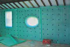Oldroyd Xp Plaster Membrane applied to barn walls