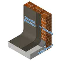 Vandex cementitious basement waterproofing system