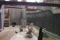 Piled retaining walls basement