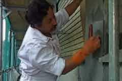 Finishing the application of Vandex CRS Repair Mortar