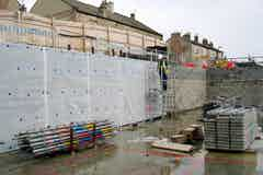 Oldroyd Xv Clear applied to the blockwork basement walls