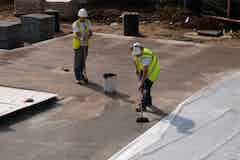 Vandex Super application to the slab surface