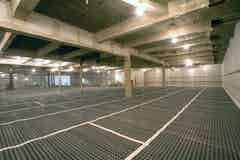 The basement with completed waterproofing system