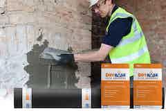 Applying Drybase Flex Adhesive to the salt-contaminated chimney