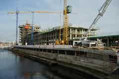 Podium deck during construction