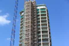 Tower during construction