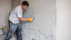 Replastering after treatment