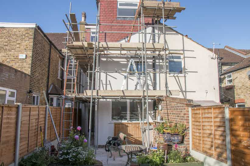 Monocouche render applied before Stormdry application