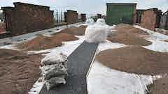 Brown roof installed on top of the Toxteth TV building using Oldroyd Xv Green 20 Xtra