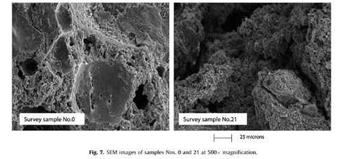 SEM images at 500× magnification