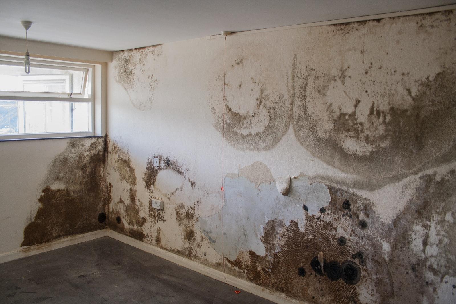 Water leaking throug wall penetration