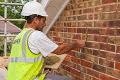 Faulty mortar must be repointed