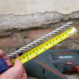 Mark the drill bit at the required drilling depth