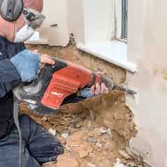 Remove contaminated plaster