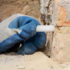 Install the damp-proof course
