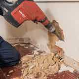 Remove all damp and/or salt contaminated plaster