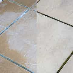 Allow the cream to absorb into the stonework / patio slabs for 24 hours