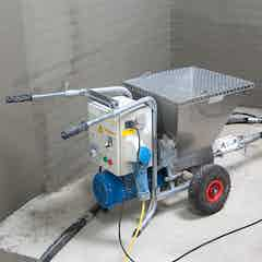 Choosing a suitable fine mortar spraying device