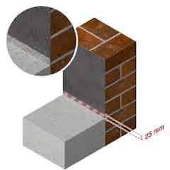 Drybase Flex floor-wall junction detail