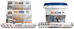 The Dryzone Express Replastering System: Dryshield Cream, Drygrip Adhesive, Dryzone Damp-Proofing Cream and Dryrod Damp-Proofing Rods