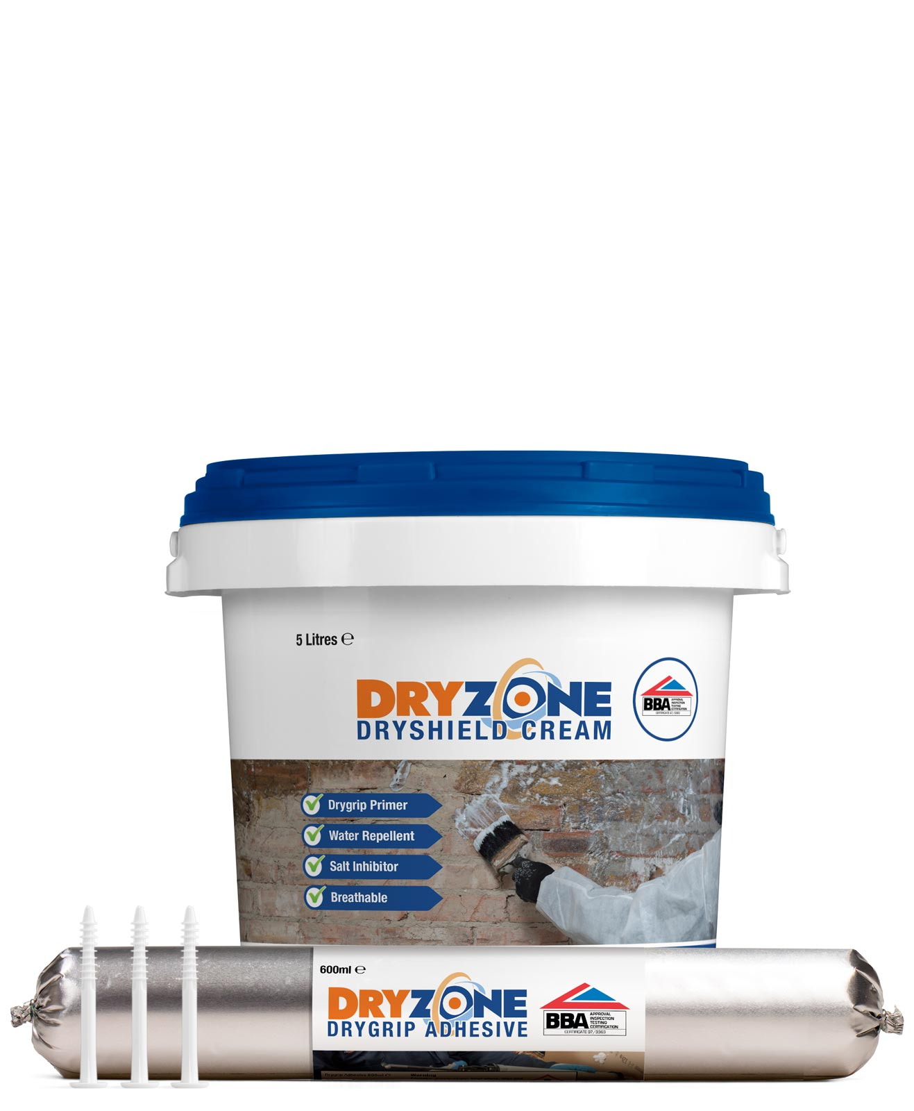 Aquatex Damp Proofing Systems Waterproof Wall Paints: Dryzone System Damp-Proofing Range