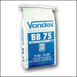 Vandex BB75 for basement waterproofing