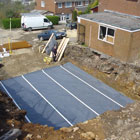 Laying Oldroyd Xs waterproof membrane
