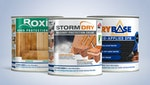 Stormdry Masonry Protection Cream, Drybase Liquid-Applied DPM & Roxil Wood Protection Cream 1 Litre Packages