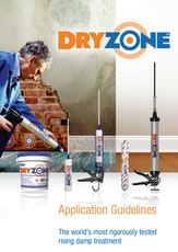 Dryzone Damp Proofing Cream Application Guidelines