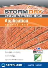 Stormdry Masonry Protection Cream Application Guidelines