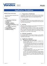 Vandex Plug Application Guidelines