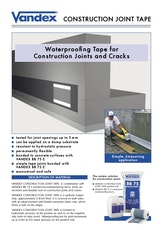 Vandex Construction Joint Tape Brochure