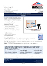 Dryzone Damp Proofing Cream Bba Certificate