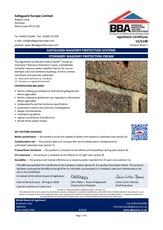 Stormdry Masonry Protection Cream Bba Certificate