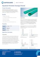 Aquadrain Perimeter Drainage Channel Datasheet