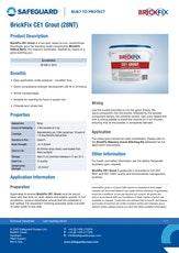 Brickfix Ce1 Grout Datasheet