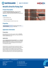 Brickfix Drivetie Fixing Tool Datasheet
