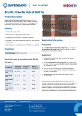 Brickfix Drivetie Helical Wall Tie Datasheet
