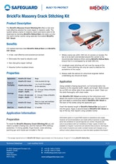 Brickfix Masonry Crack Stitching Kit Datasheet