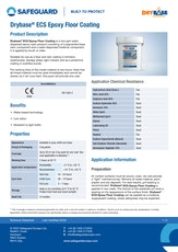 Drybase Ecs Epoxy Floor Coating Datasheet