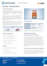 Drybase Tanking Slurry Datasheet
