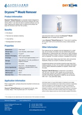 Dryzone 100 Mould Killer Datasheet
