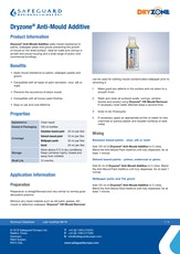 Dryzone Acs Mould Eradication Additive Datasheet