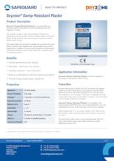 Dryzone Damp Resistant Plaster Datasheet