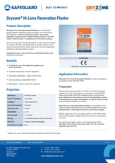 Dryzone Hi Lime Renovation Plaster Datasheet