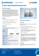 Dryzone Mould Resistant Emulsion Paint Datasheet