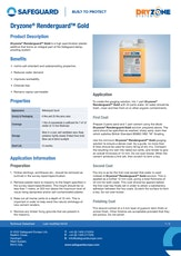 Dryzone Renderguard Gold Datasheet