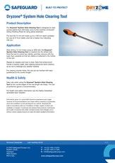 Dryzone System Hole Clearing Tool Datasheet