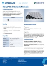 Oldroyd Gtx 20 Geotextile Membrane Datasheet