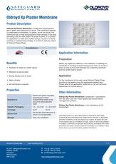 Oldroyd Xp Plaster Membrane Datasheet